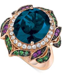 Le Vian - Crazy Collection® Garnet (7-5/8 Ct. T.w.) And Multi-stone Round Flower Ring In 14k Rose Gold - Lyst