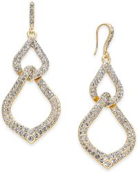 INC International Concepts - I.n.c. Gold-tone Pavé Interlocking Link Drop Earrings, Created For Macy's - Lyst
