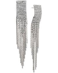 Badgley Mischka - Jewel Crystal & Chain Fringe Chandelier Earrings - Lyst