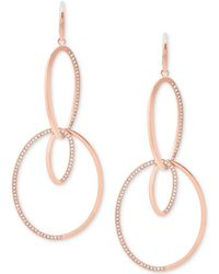 Michael Kors - Pavé Double-loop Drop Earrings - Lyst