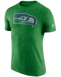 Lyst - Ktz Nfl Seattle Seahawks T-shirt With Large Logo In Navy in ... 7b6cce04f