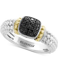Effy Collection - Balissima By Effy® Diamond Beaded Ring (1/6 Ct. T.w.) In Sterling Silver & 18k Gold - Lyst