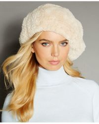 The Fur Vault - Knitted Beaver Fur Beret - Lyst