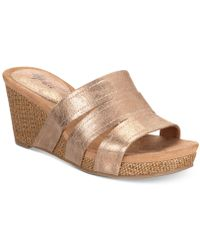 Style & Co. - Juliaa Slip-on Platform Wedge Sandals, Created For Macy's - Lyst