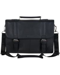 "Ben Sherman - Karino Leather Flap-over 15"" Computer Case Bag - Lyst"