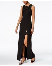 Vince Camuto - Sequined-lace Slit Gown - Lyst