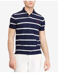 Polo Ralph Lauren - Striped Classic-fit Mesh Polo Shirt - Lyst