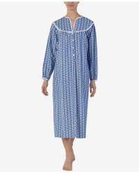 Lanz of Salzburg - Lanz Printed Cotton Flannel Ballet-length Nightgown - Lyst