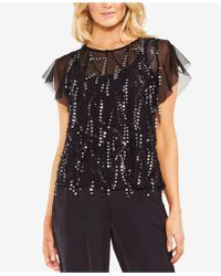 Vince Camuto - Sequin-embellished Illusion Top - Lyst