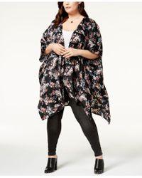 Soprano - Trendy Plus Size Open-front Kimono - Lyst