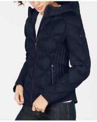Michael Kors - Michael Hooded Packable Down Puffer Coat - Lyst