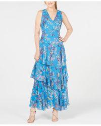INC International Concepts - I.n.c. Asymmetrical Ruffle Maxi Dress, Created For Macy's - Lyst