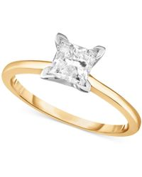 Macy's - Diamond Princess Solitaire Engagement Ring (1 Ct. T.w.) In 14k White Gold, Rose Gold Or Yellow Gold. - Lyst