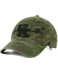 47 Brand - Kentucky Wildcats Regiment Clean Up Strapback Cap - Lyst