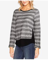 Vince Camuto - Striped Layered-look Top - Lyst