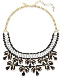 INC International Concepts | Two-tone Jet Stone & Bead Statement Necklace | Lyst