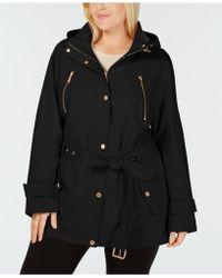 Michael Kors Michael Hooded Raincoat