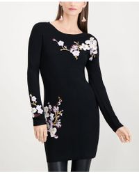 INC International Concepts - I.n.c. Floral-embroidered Tunic Sweater, Created For Macy's - Lyst