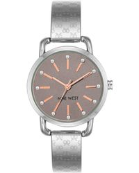 Nine West - Women's Silver-tone Bangle Bracelet Watch 32mm - Lyst