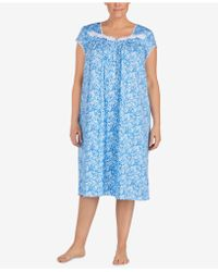 Eileen West - Waltz Plus Size Venise-lace Knit Nightgown - Lyst