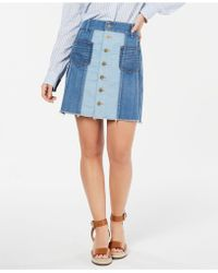 e7b6c421d0 Tommy Hilfiger - Patchwork Button Denim Skirt, Created For Macy's - Lyst