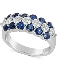 Macy's - Sapphire (1-5/8 Ct. T.w.) And Diamond (5/8 Ct. T.w.) Ring In 14k White Gold - Lyst