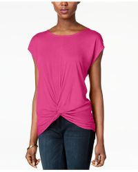 INC International Concepts - I.n.c. Twist-front Top, Created For Macy's - Lyst