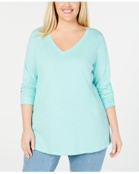 Eileen Fisher - Plus Size Organic Cotton Top - Lyst