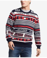 Tommy Hilfiger - Stripe Logo Sweater, Created For Macy's - Lyst