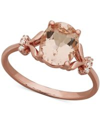 Macy's - Morganite (1-3/4 Ct. T.w.) & Diamond (1/3 Ct. T.w) Ring In 14k Rose Gold - Lyst