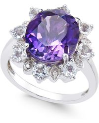 Macy's - Amethyst (5 Ct. T.w.) & White Topaz (1 Ct. T.w.) Ring In Sterling Silver - Lyst