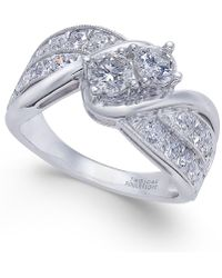 Macy's - Diamond Two Souls Engagement Ring (1-1/2 Ct. T.w.) In 14k White Gold - Lyst