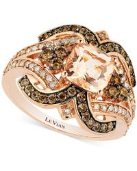 Le Vian - Chocolatier® Peach Morganite (1 Ct. T.w.) And Diamond (3/4 Ct. T.w.) Ring In 14k Rose Gold - Lyst