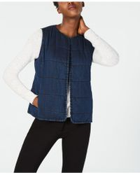 Eileen Fisher - Denim Vest, Regular & Petite - Lyst