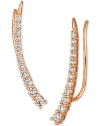 Le Vian - Strawberry & Nudetm Diamond Climber Earrings (5/8 Ct. T.w.) In 14k Rose Gold - Lyst