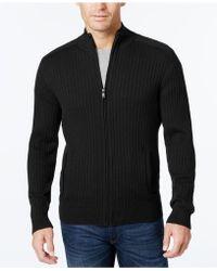 Alfani - Men's Ribbed Full-zip Sweater - Lyst