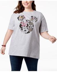 Disney - Plus Size Minnie Mouse Collage T-shirt - Lyst