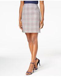 Anne Klein - Plaid Skirt, Created For Macy's - Lyst