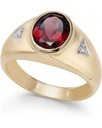 Macy's - Rhodolite Garnet (3 Ct. T.w.) & Diamond Accent Ring In 14k Gold - Lyst