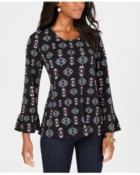 Style & Co. - Ruffle-sleeve Scoop-neck Top, Created For Macy's - Lyst