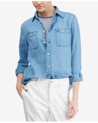 Polo Ralph Lauren - Chambray Linen Shirt - Lyst