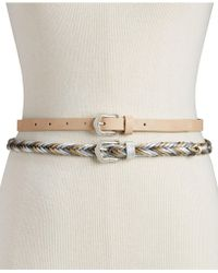 INC International Concepts - I.n.c. 2-for-1 Solid & Braided Skinny Belts, Created For Macy's - Lyst