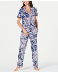 Sesoire - Printed Knit Short-sleeve Top And Pyjama Trousers Set - Lyst