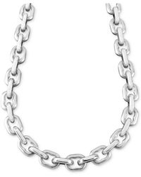 "Macy's - Men's Stainless Steel Necklace, 24"" Anchor Link - Lyst"