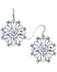 Charter Club - Silver-tone Crystal Drop Earrings - Lyst