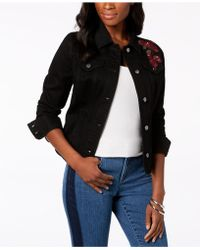 Charter Club - Floral-embroidered Denim Jacket, Created For Macy's - Lyst