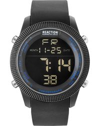 Kenneth Cole Reaction - Men's Digital Black Silicone Strap Watch 50mm 10031945 - Lyst