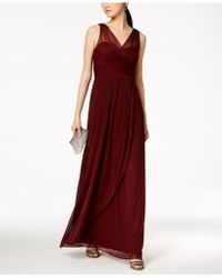 Adrianna Papell - Ruched Embellished Gown - Lyst