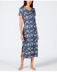 Sesoire - Printed Lace-neckline Nightgown - Lyst