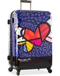 """Heys - Britto Heart With Wings 21"""" Carry-on Expandable Hardside Spinner Suitcase - Lyst"""